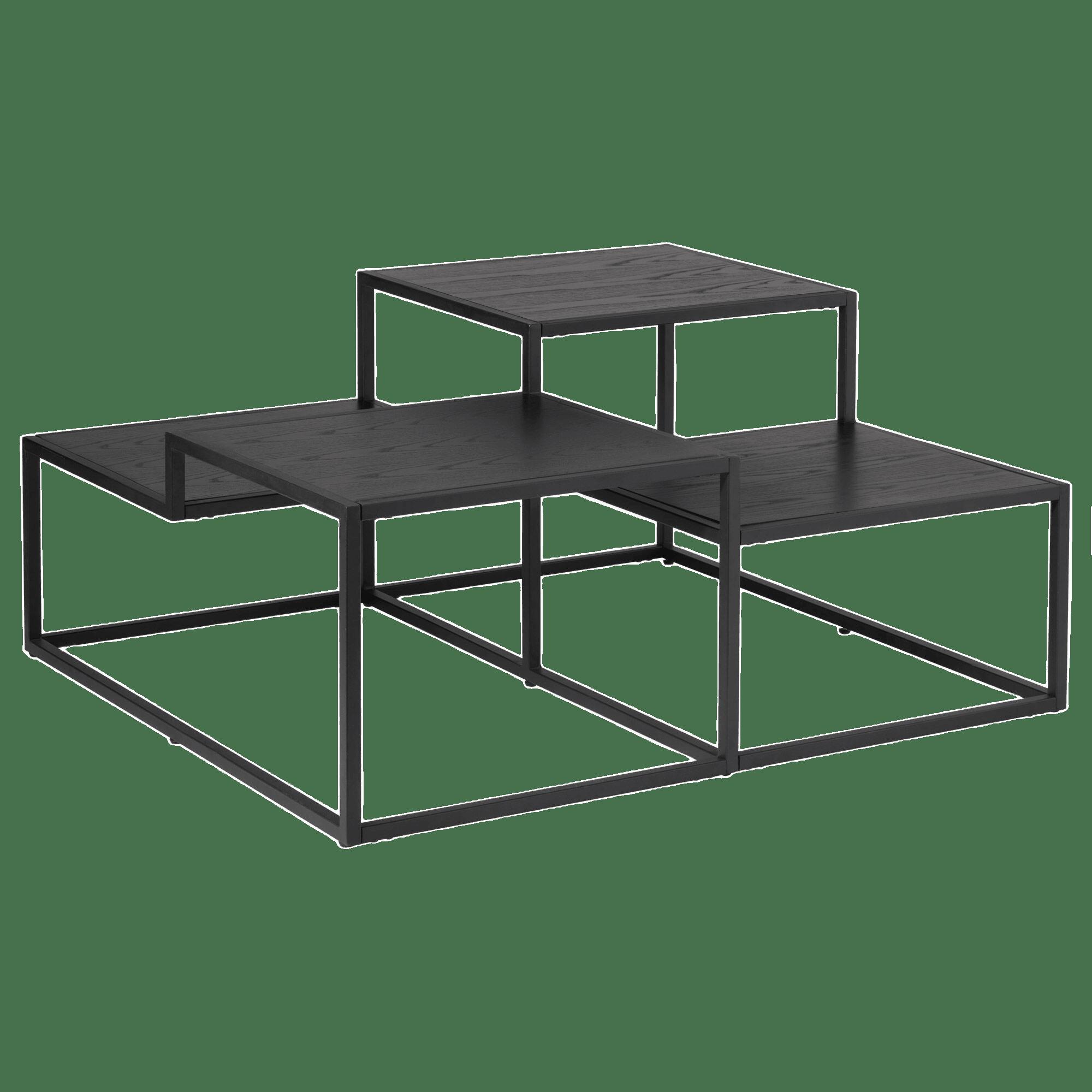 Table basse multiniveaux noire