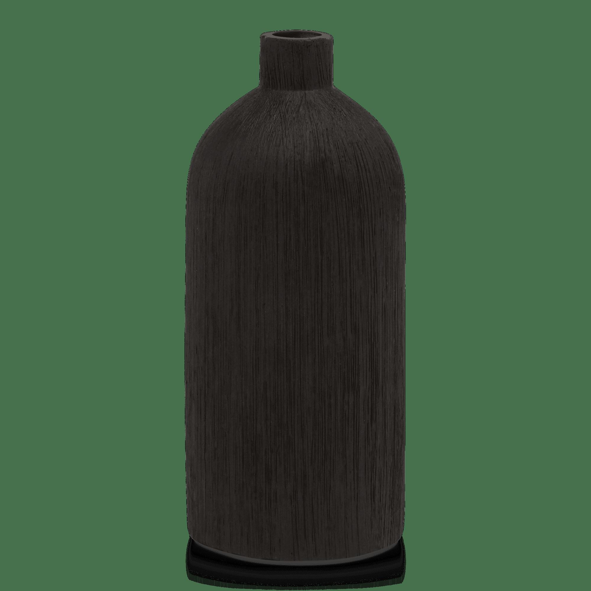 Vase bouteille en céramique texturée