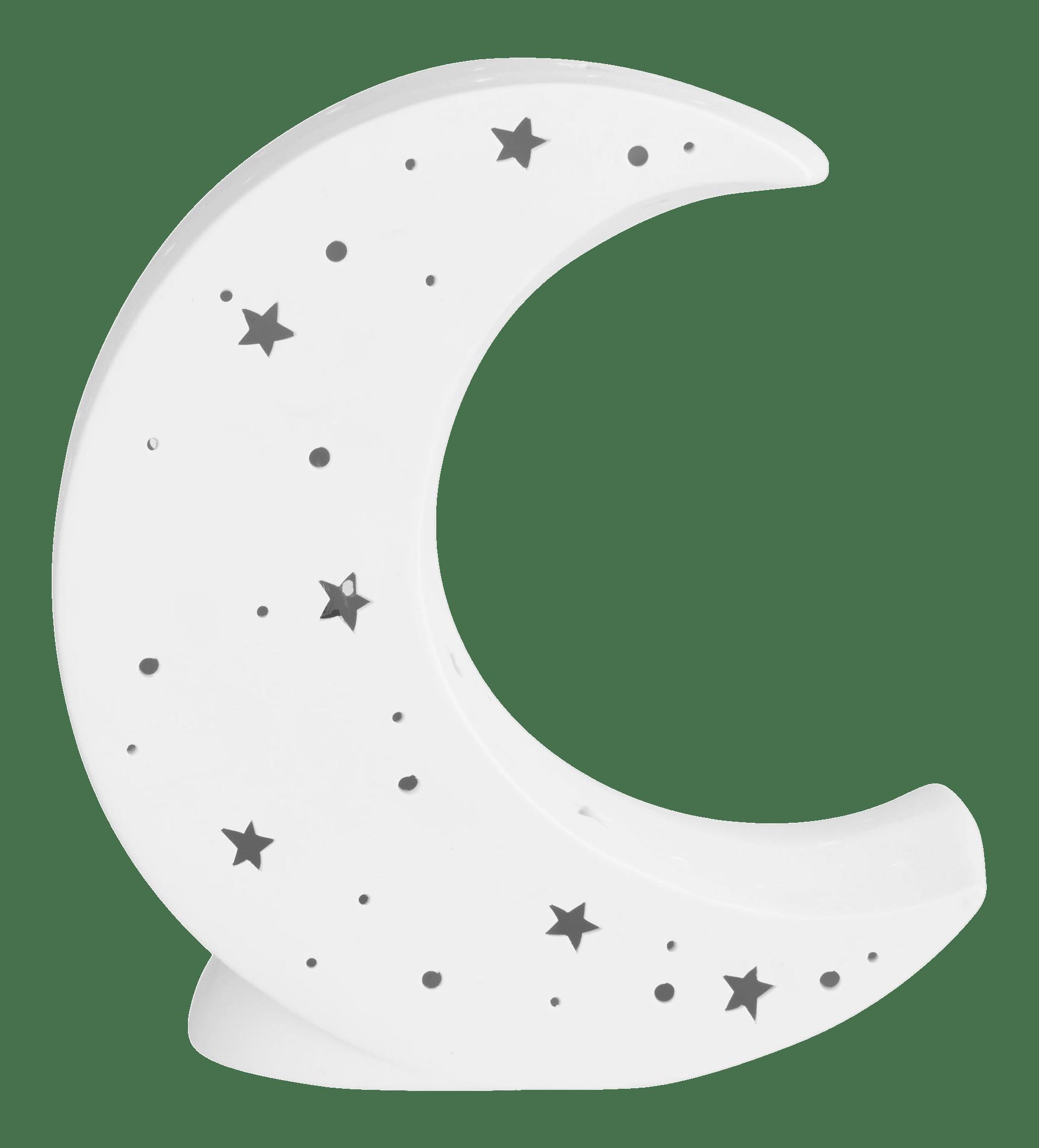 Veilleuse lune en céramique ajourée