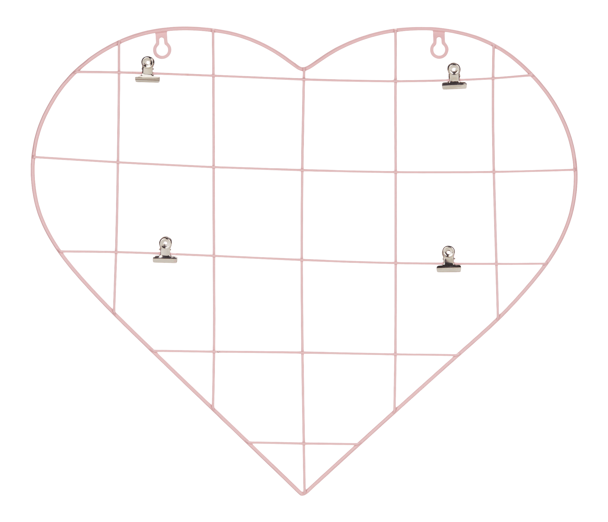 Heart Metal Wire Panel with Clips