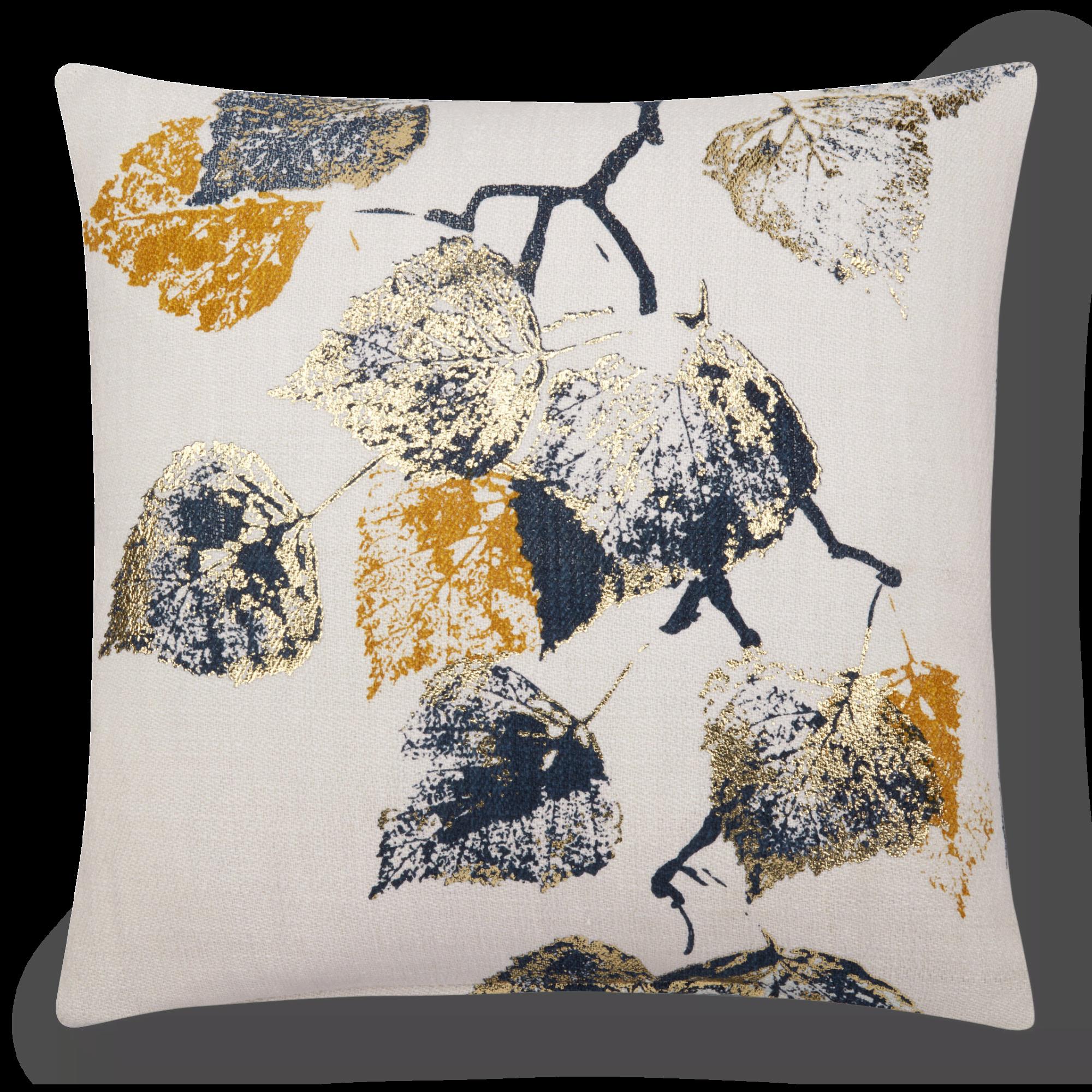 "Novak Decorative Pillow with Foil Embellishment 19"" X 19"""