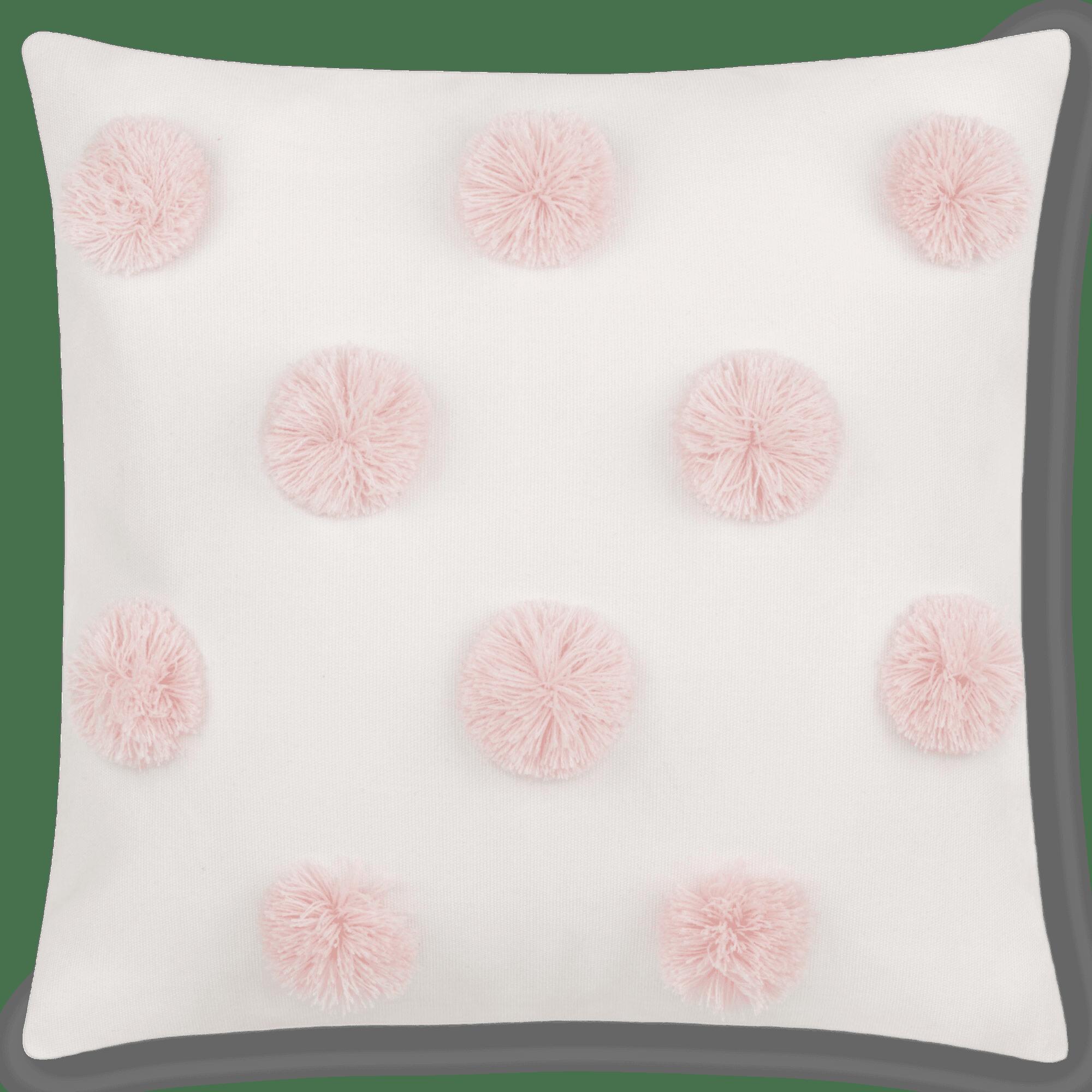 "Lanni Pompom Decorative Pillow 15"" x 15"""