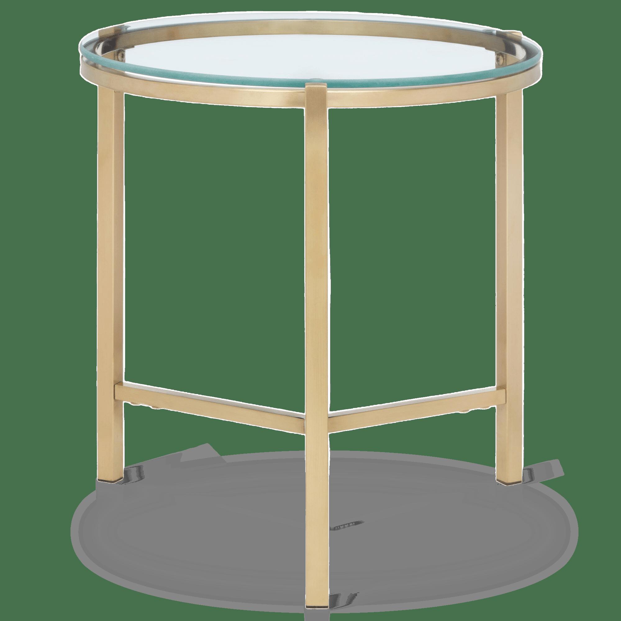 Table d'appoint en verre et en métal