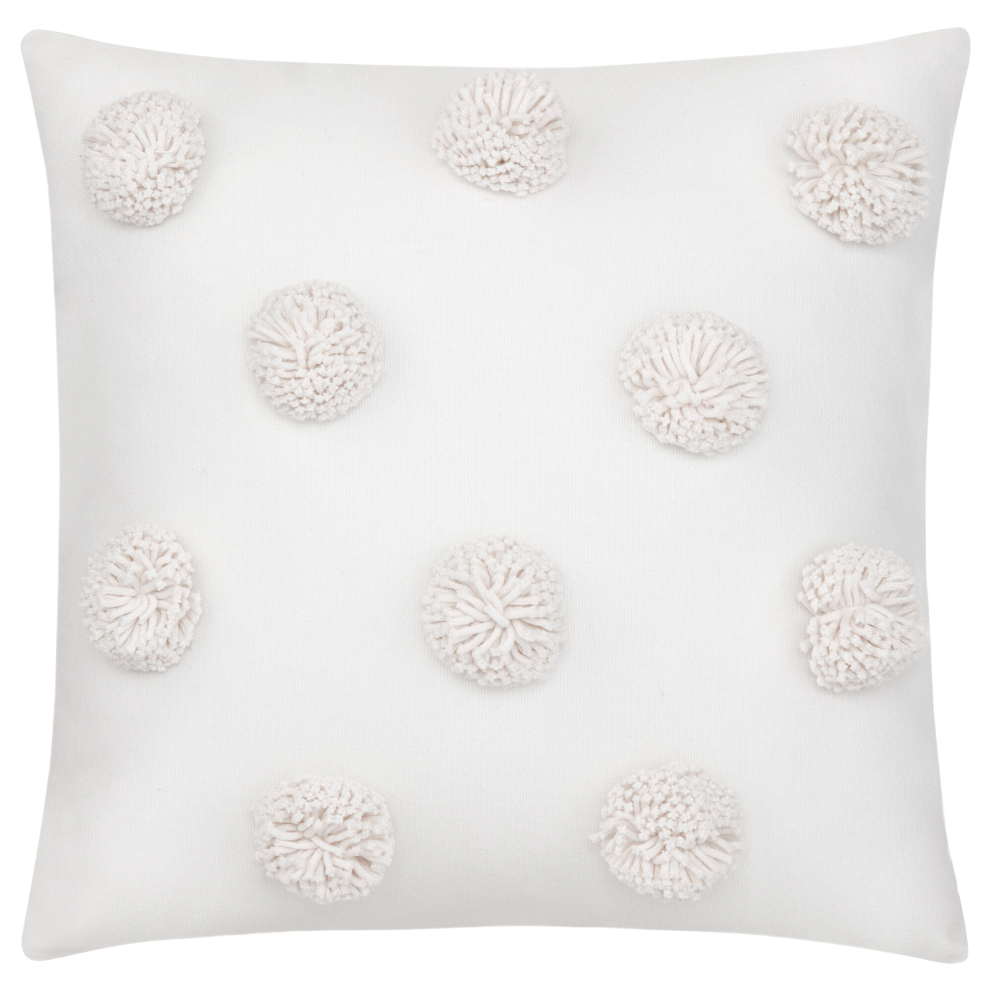 """Pompom Decorative Pillow 15"""" x 15"""""""