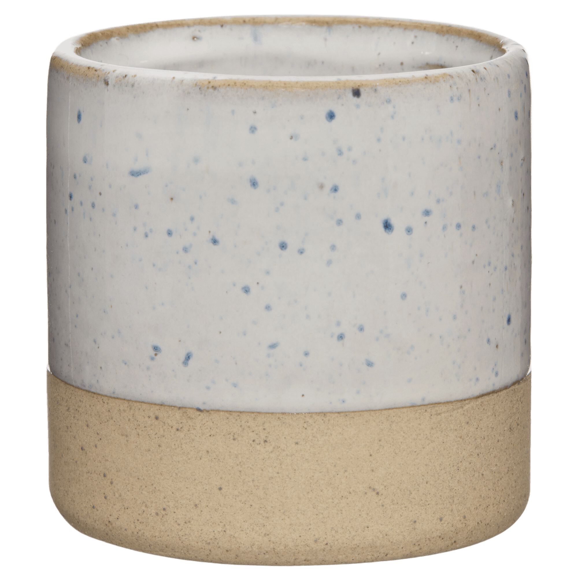 Two-Tone Speckled Ceramic Candle