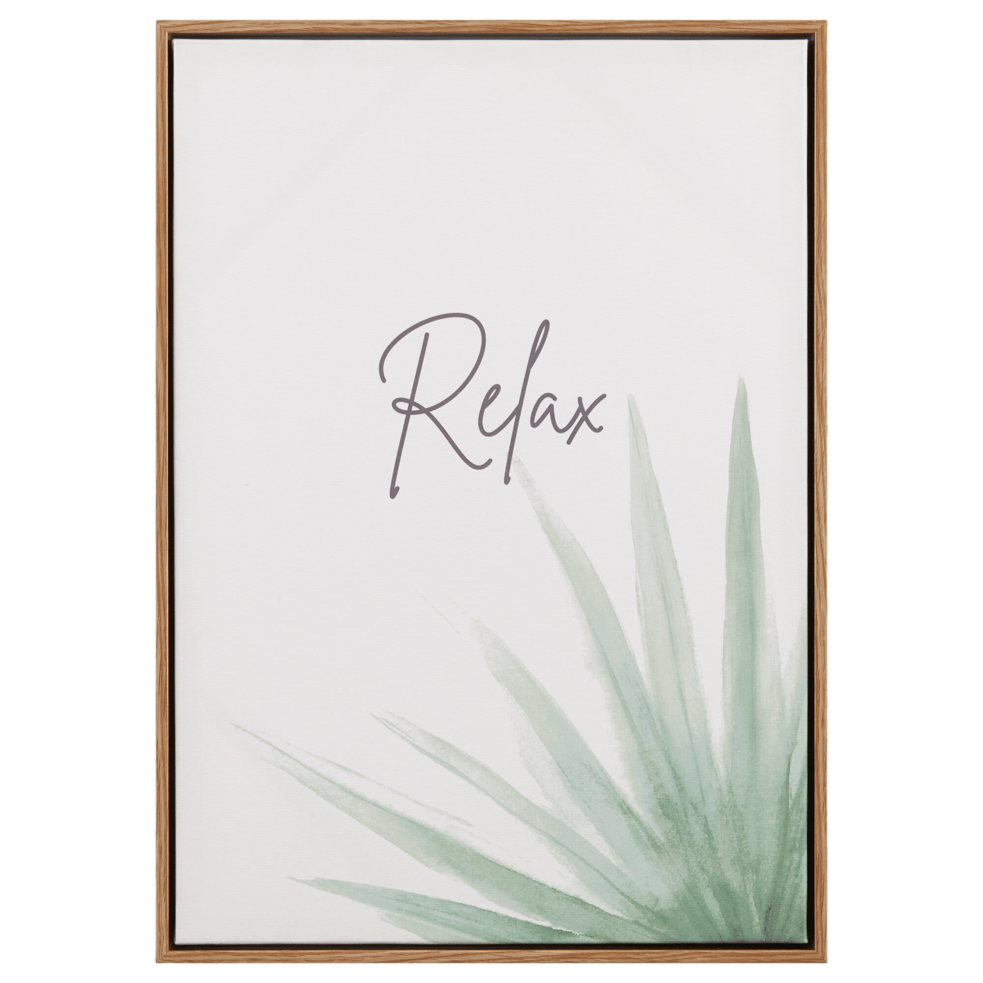 Sage Leaf and Relax Printed Canvas