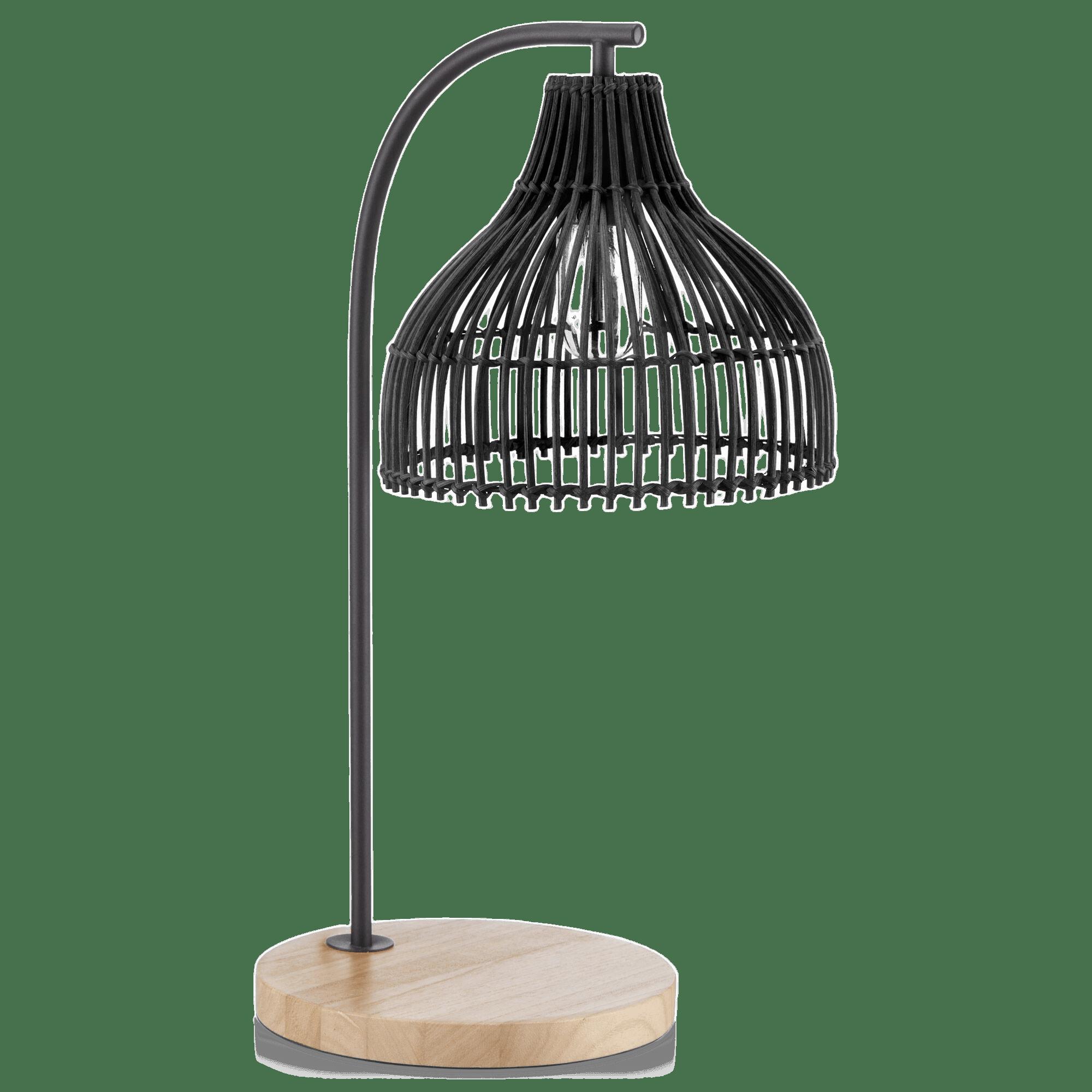 Black Rattan Table Lamp