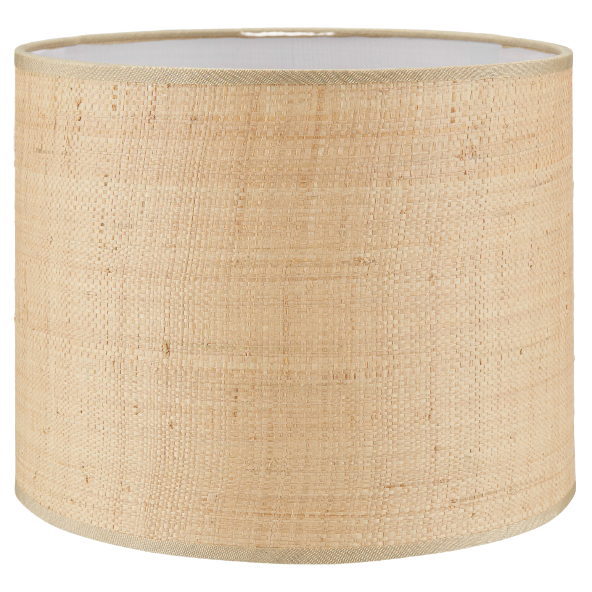Natural Round Woven Lampshade