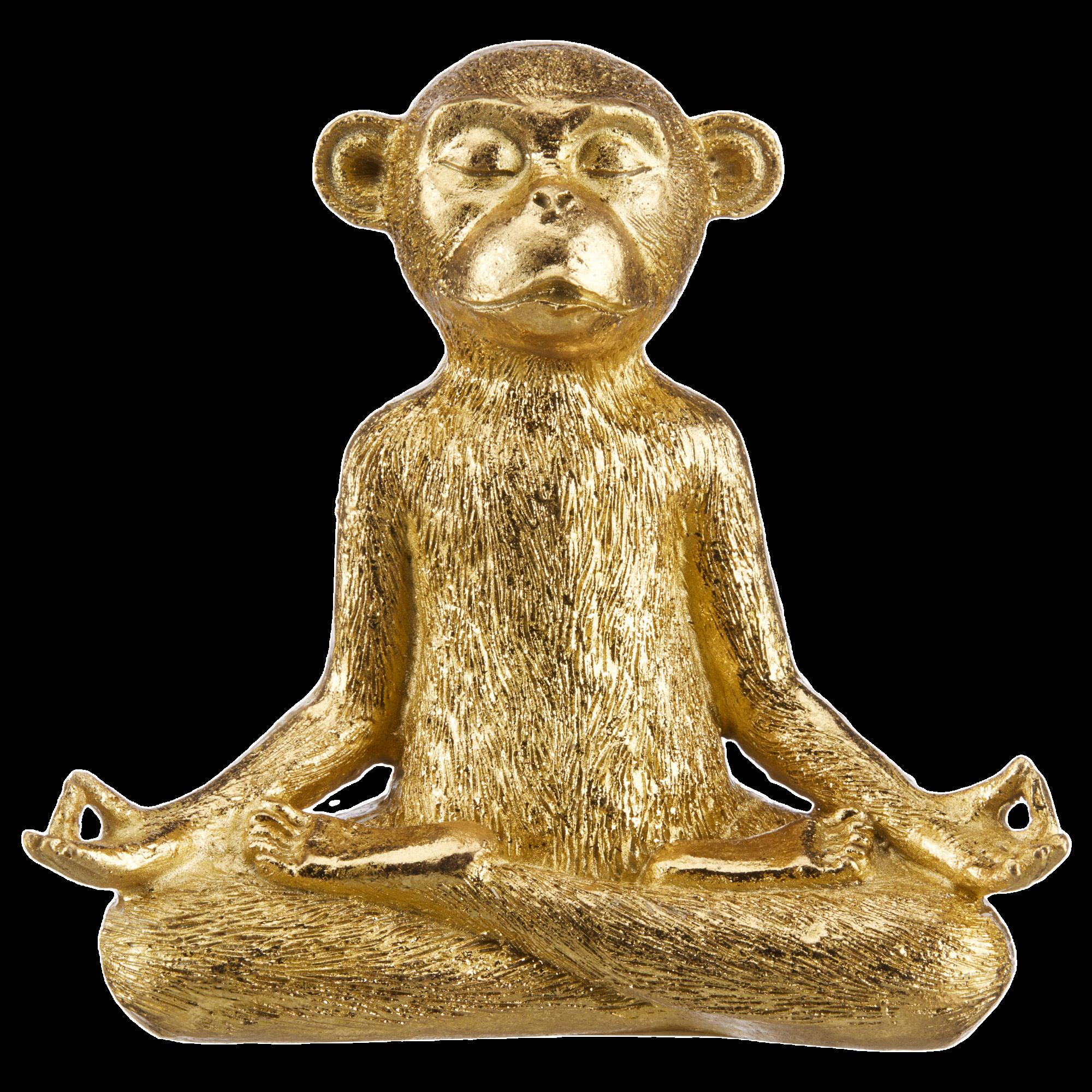 Meditating Monkey Decorative Statue