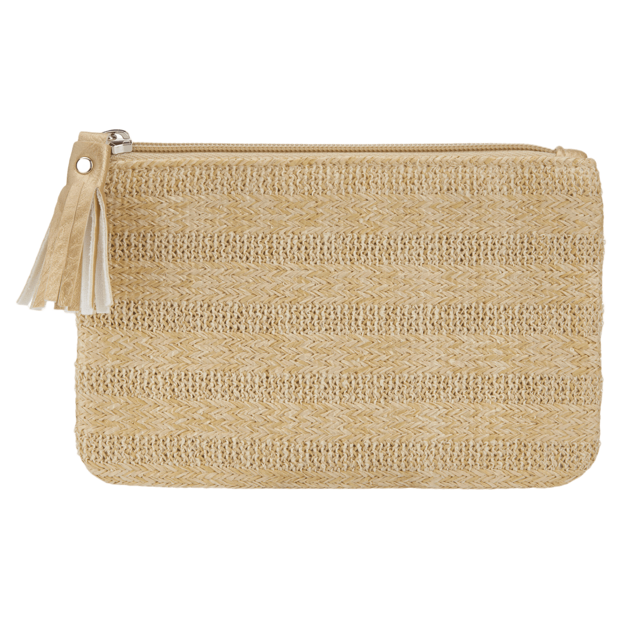 Natural Woven Pouch