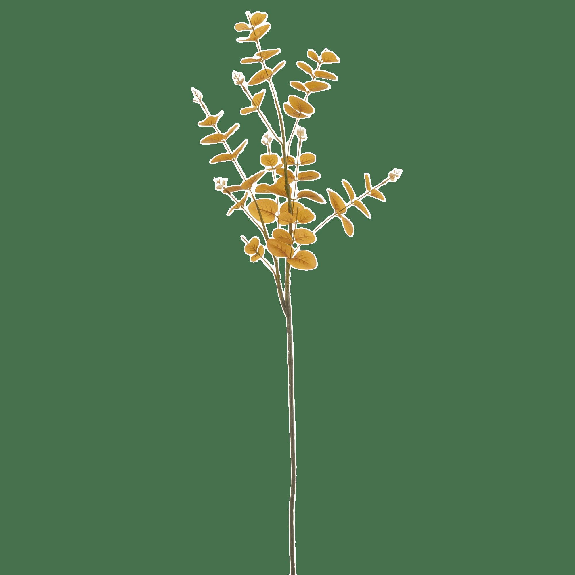 Verdure artificielle eucalyptus jaune