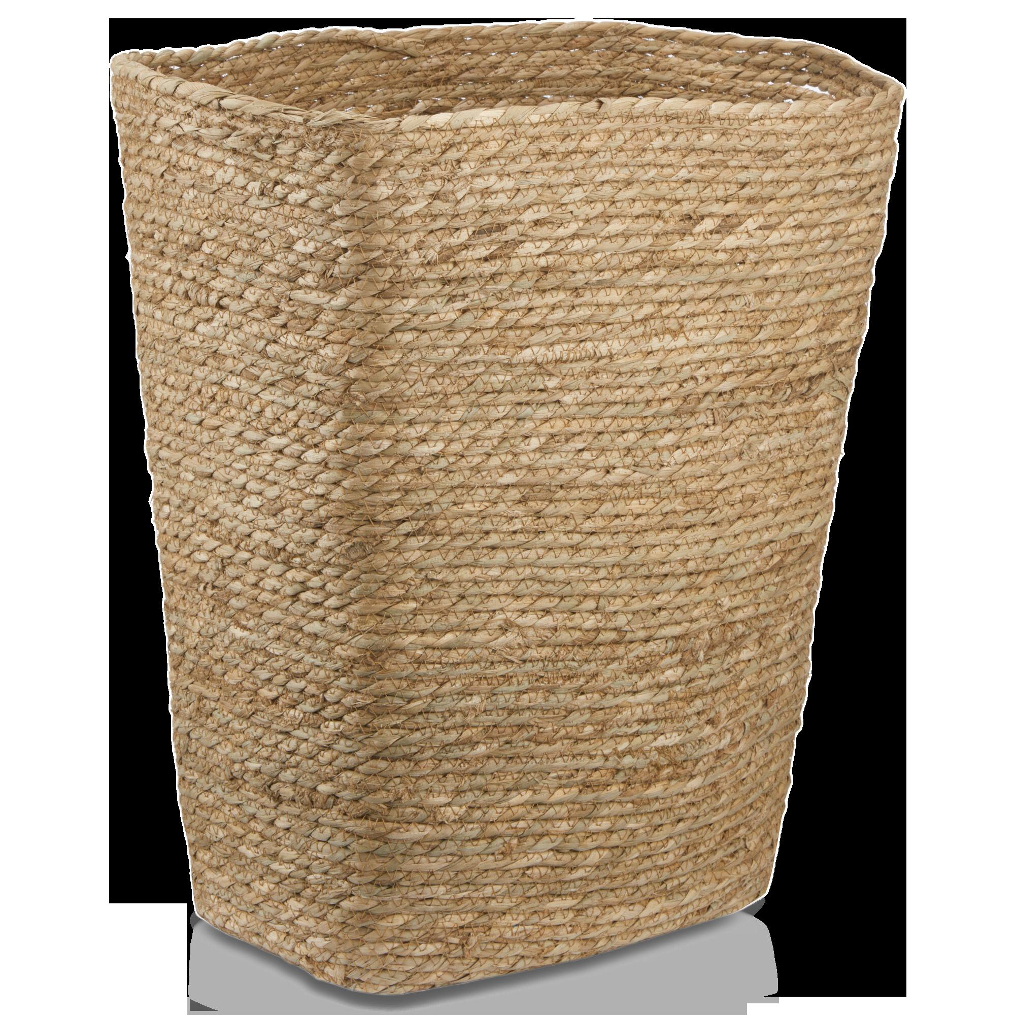 Panier à linge en fibre naturelle