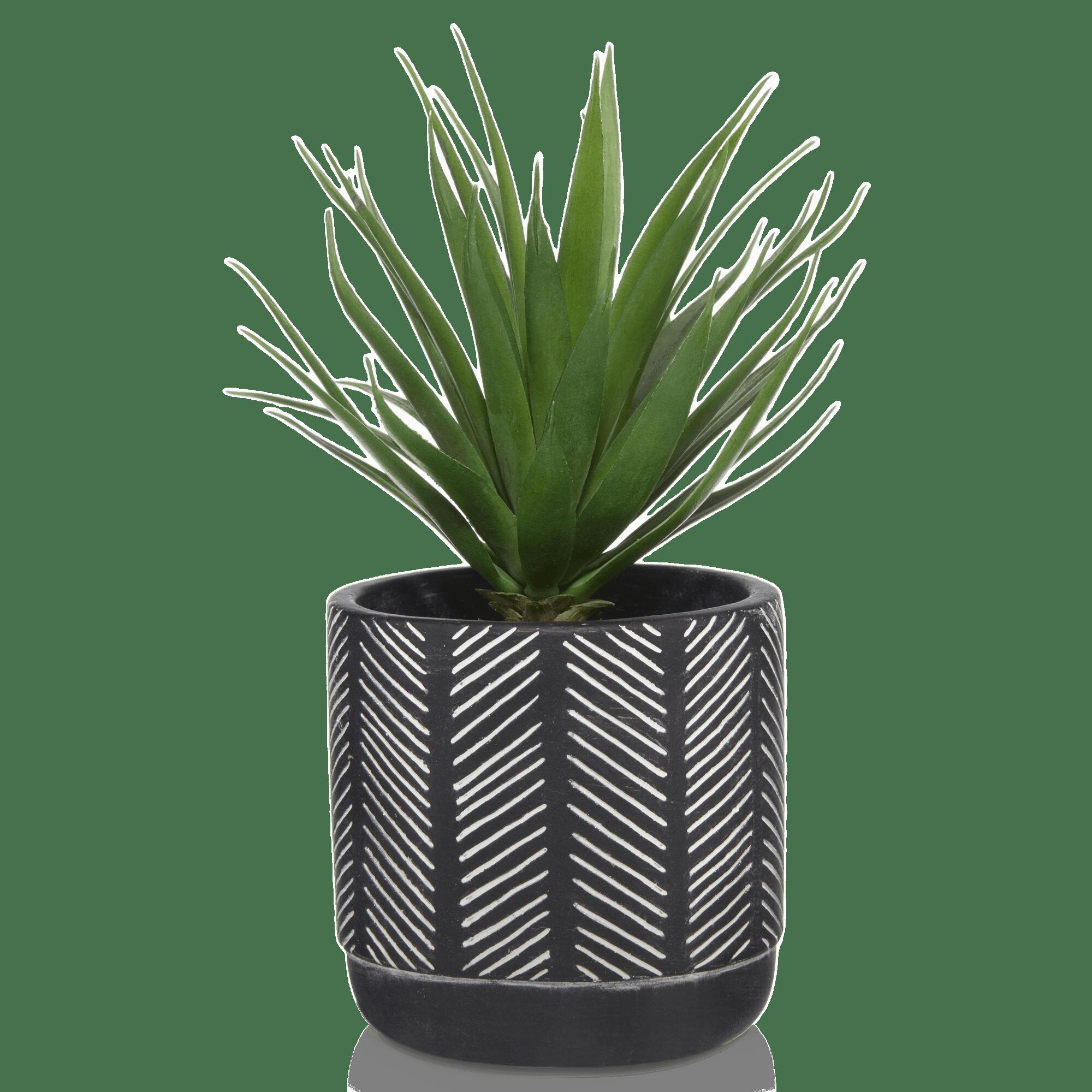 Plante artificielle en pot style aztèque