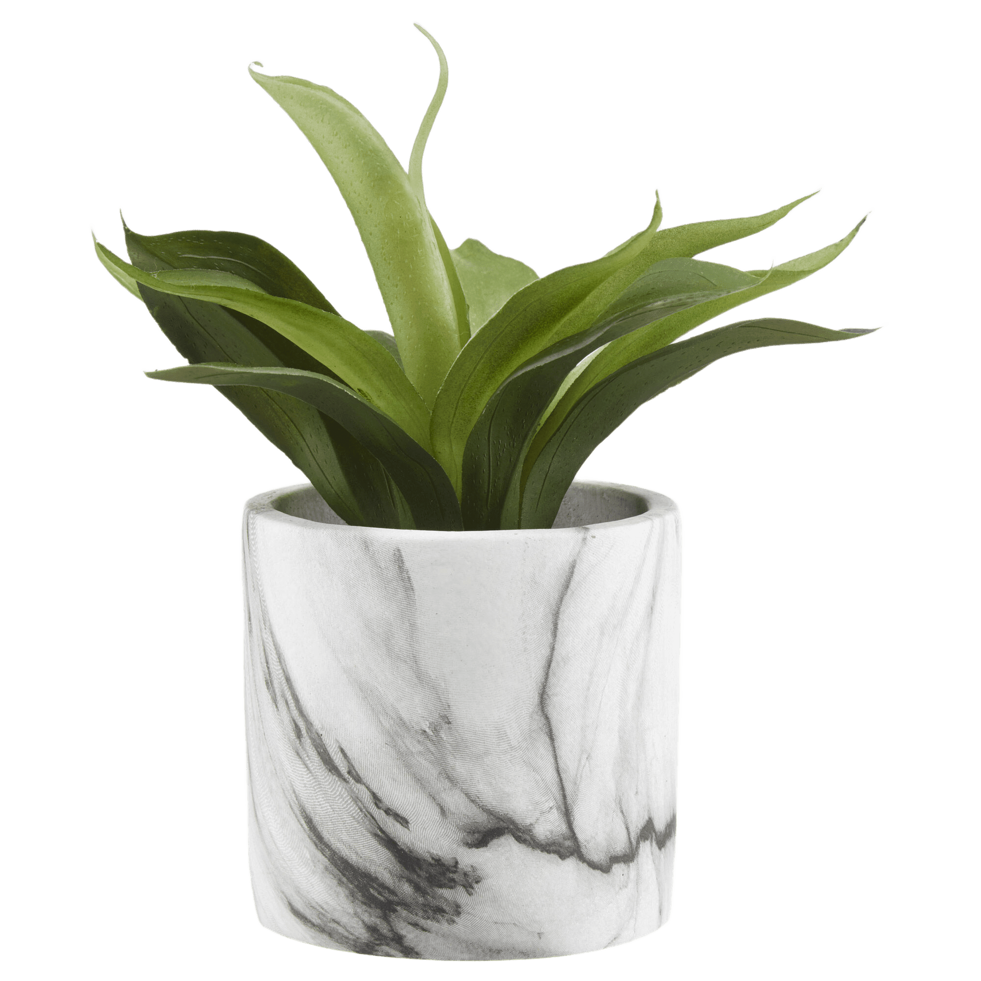 Artificial Sword Grass Plant in Marble Pot