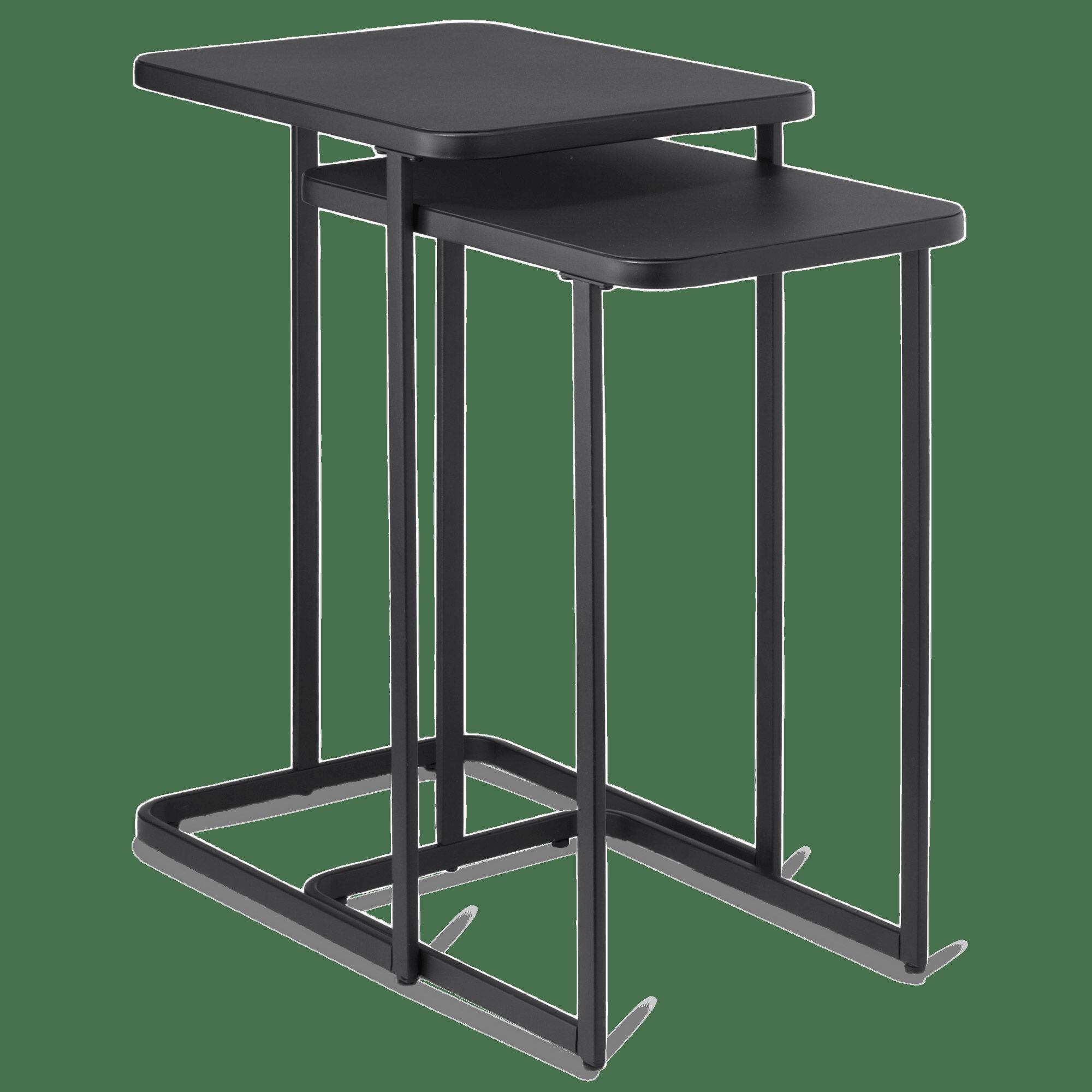 Set of 2 Metal Side Tables