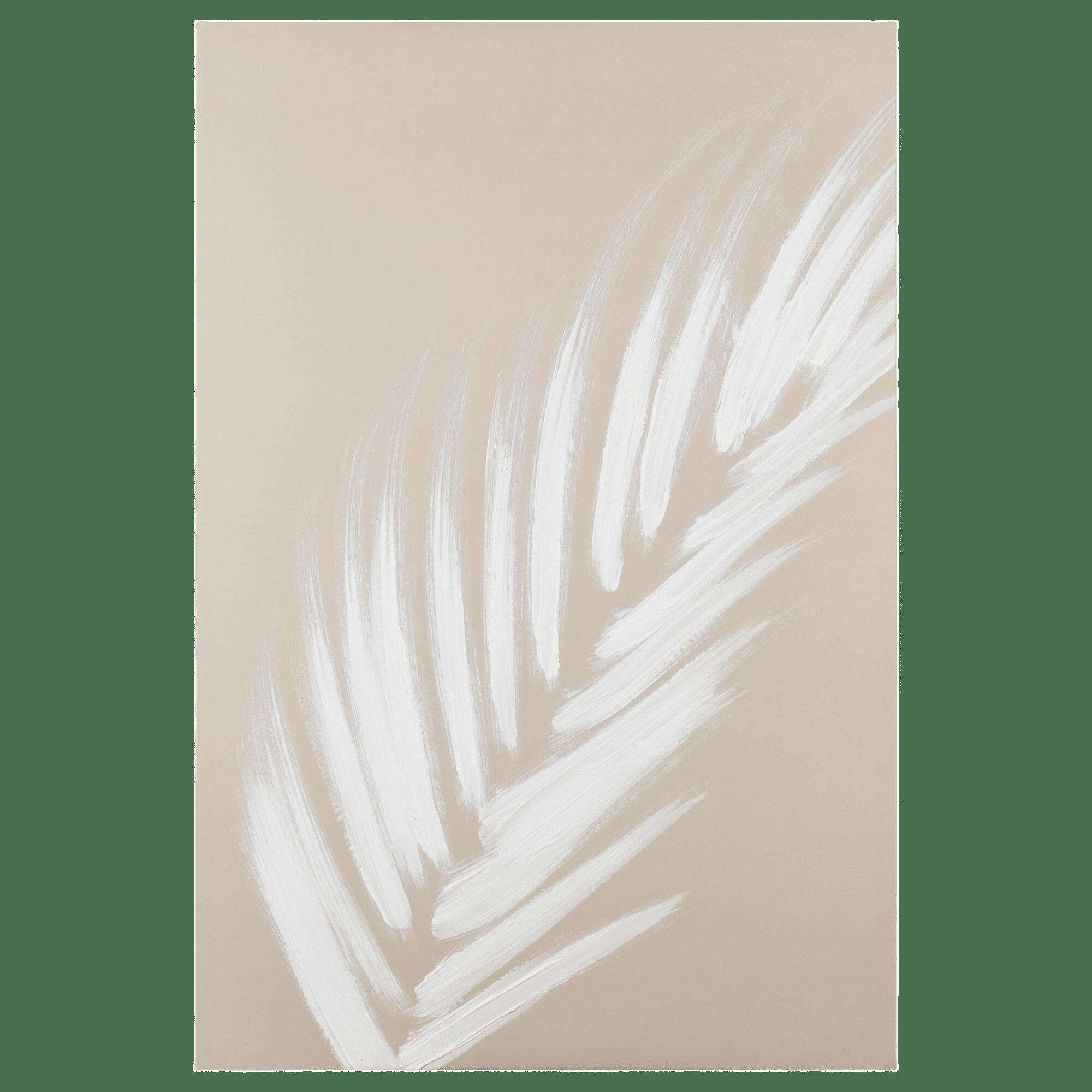 Tableau imprimé d'une feuille de palmier embellie au gel