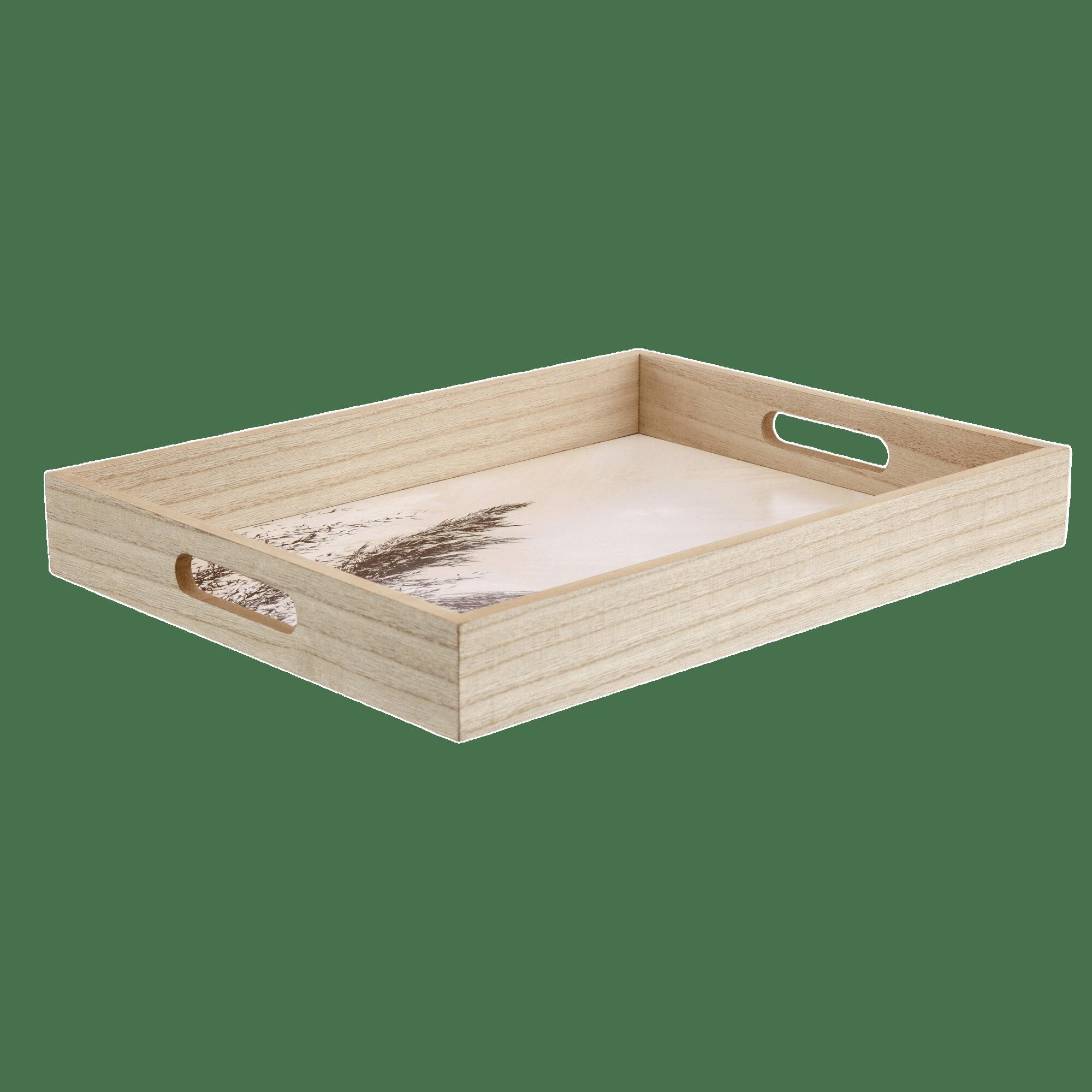 Rectangular Natural Wood Tray