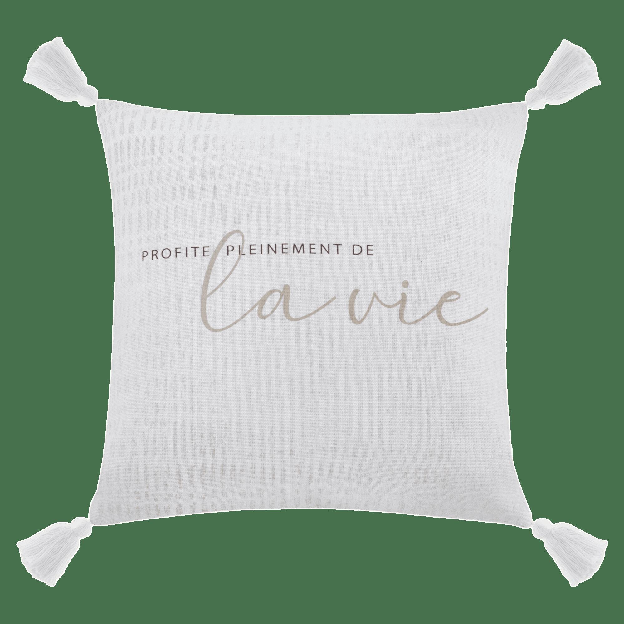 "Talia Typography Decorative Pillow Cover 18"" x 18"""