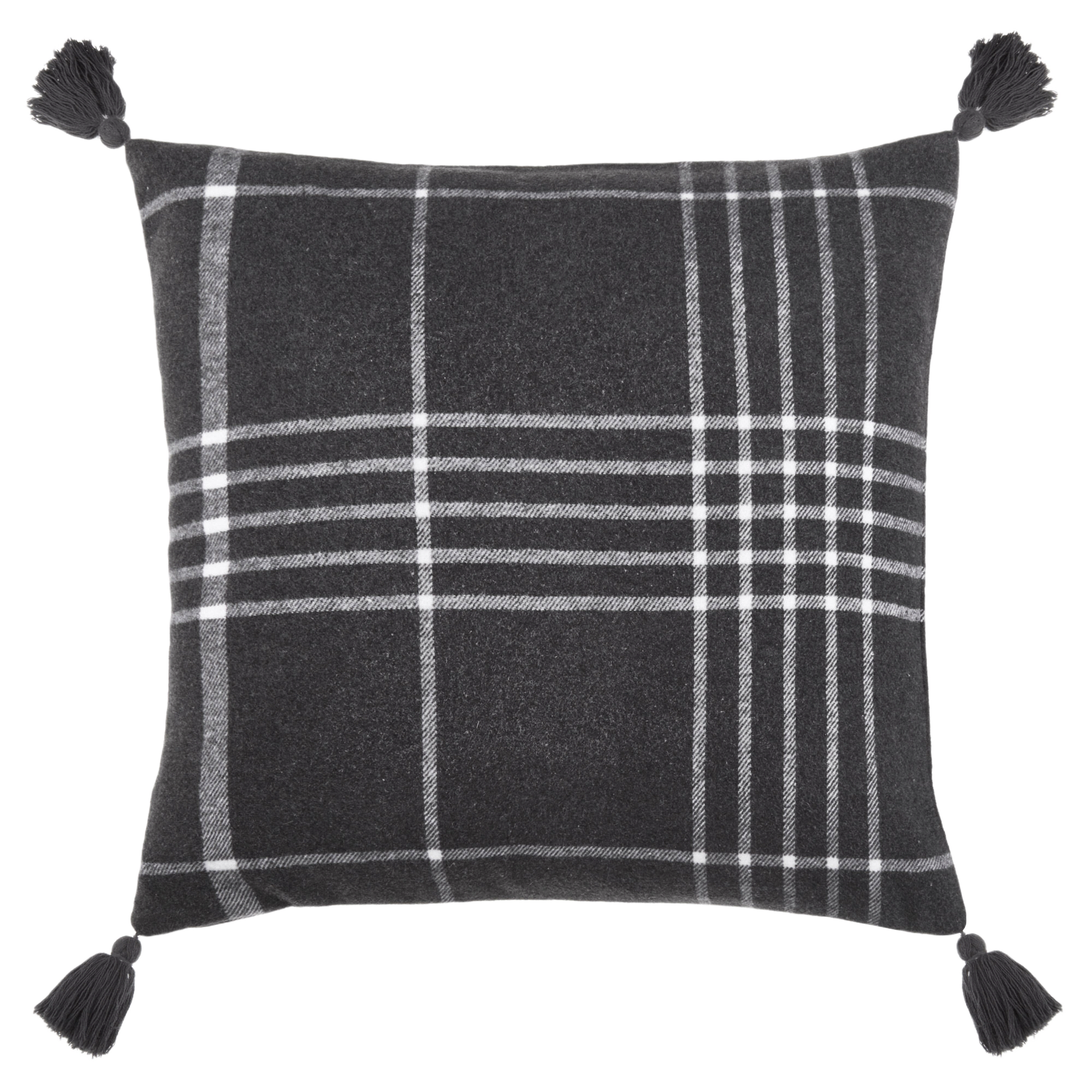 "Iklas Decorative Plaid Pillow 19"" x 19"""