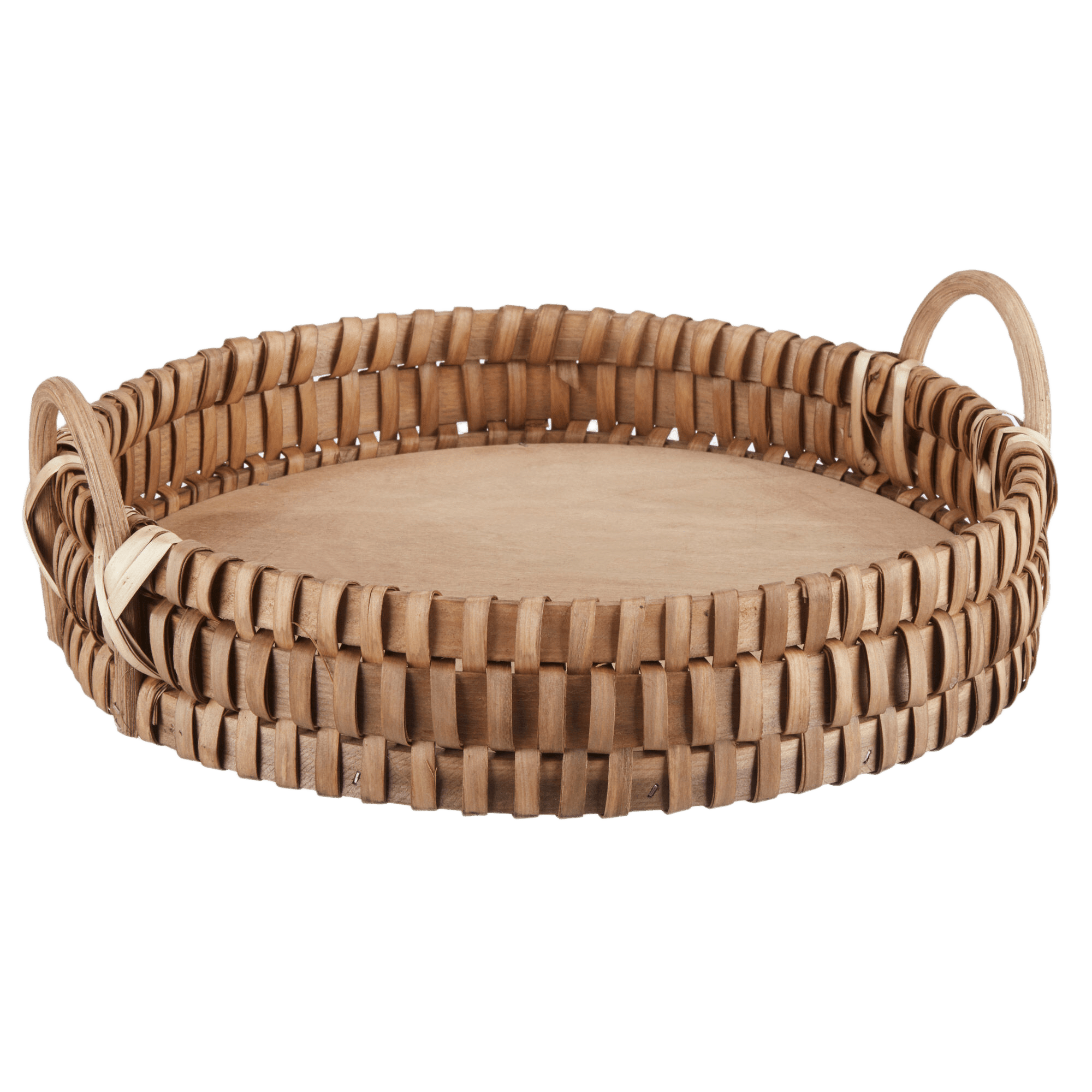 Natural Round Woven Tray