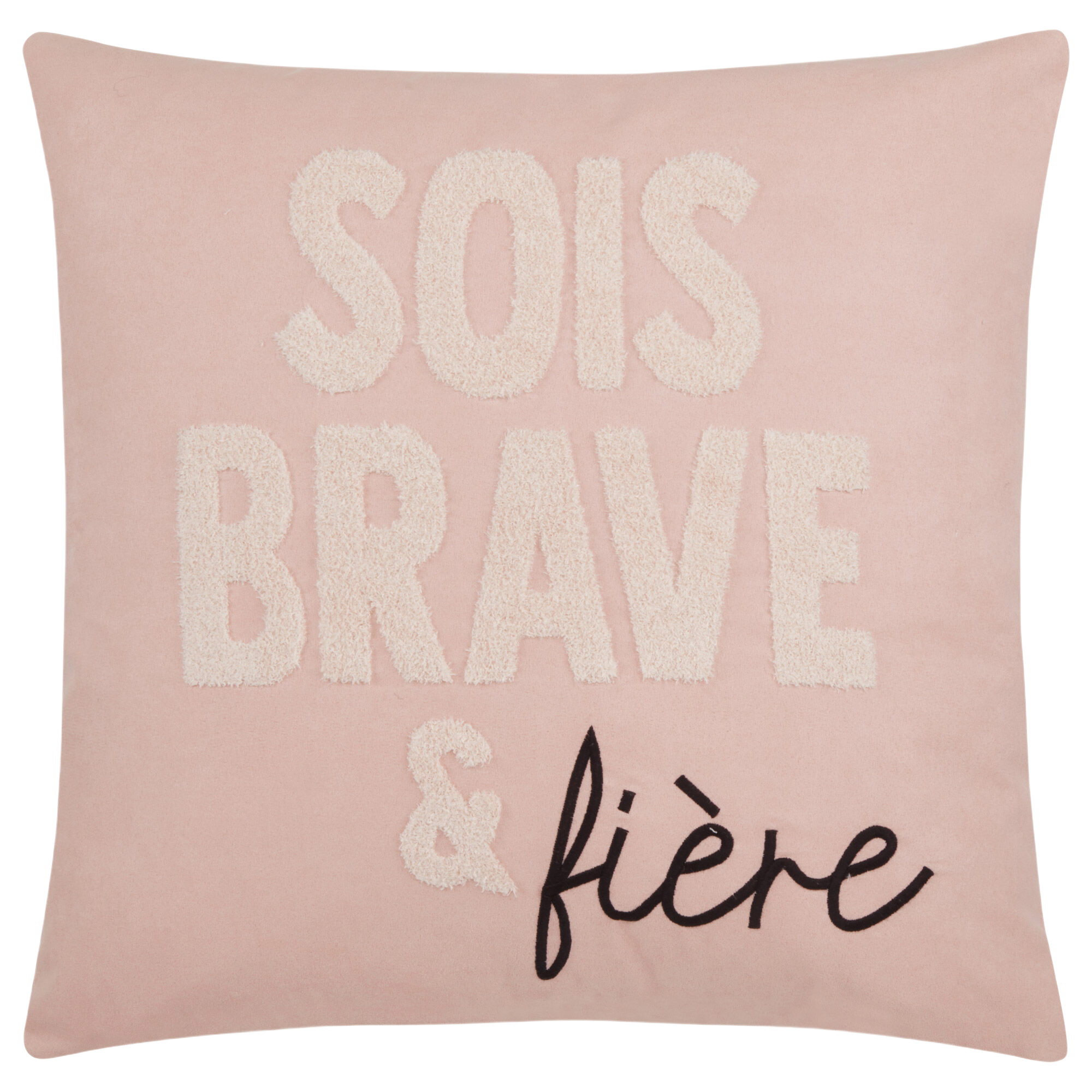 """French Typography Decorative Pillow 18"""" x 18"""""""