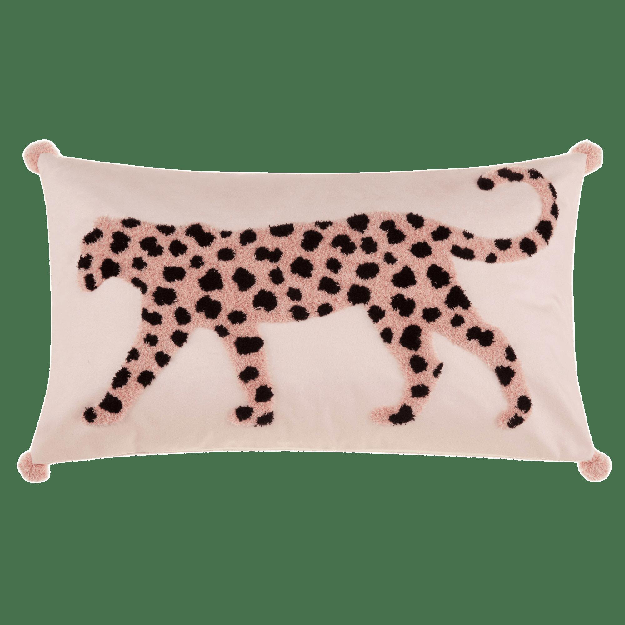 """Leah Boucle Leopard Decorative Lumbar Pillow 13"""" x 22"""""""