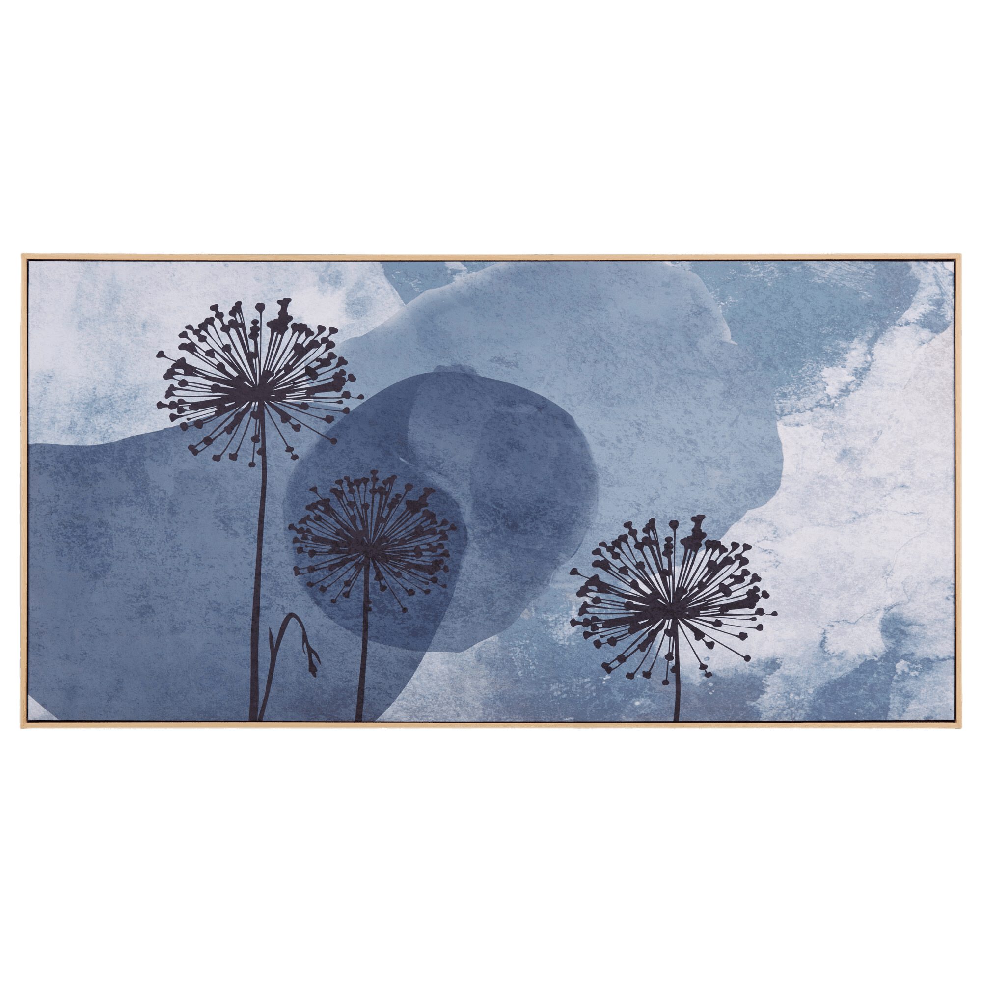 Abstract Dandelion Framed Canvas
