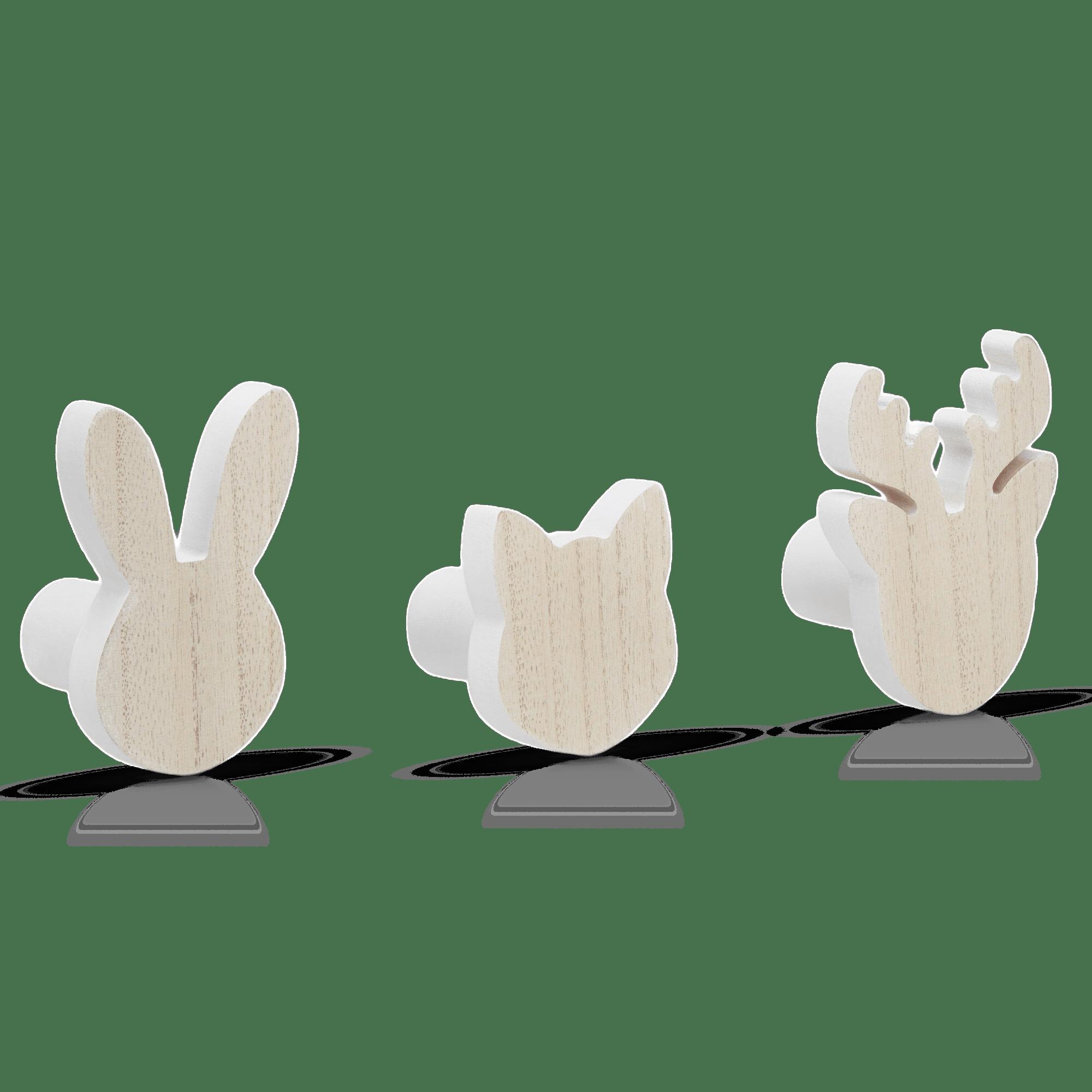 Set of 3 Animal Hooks