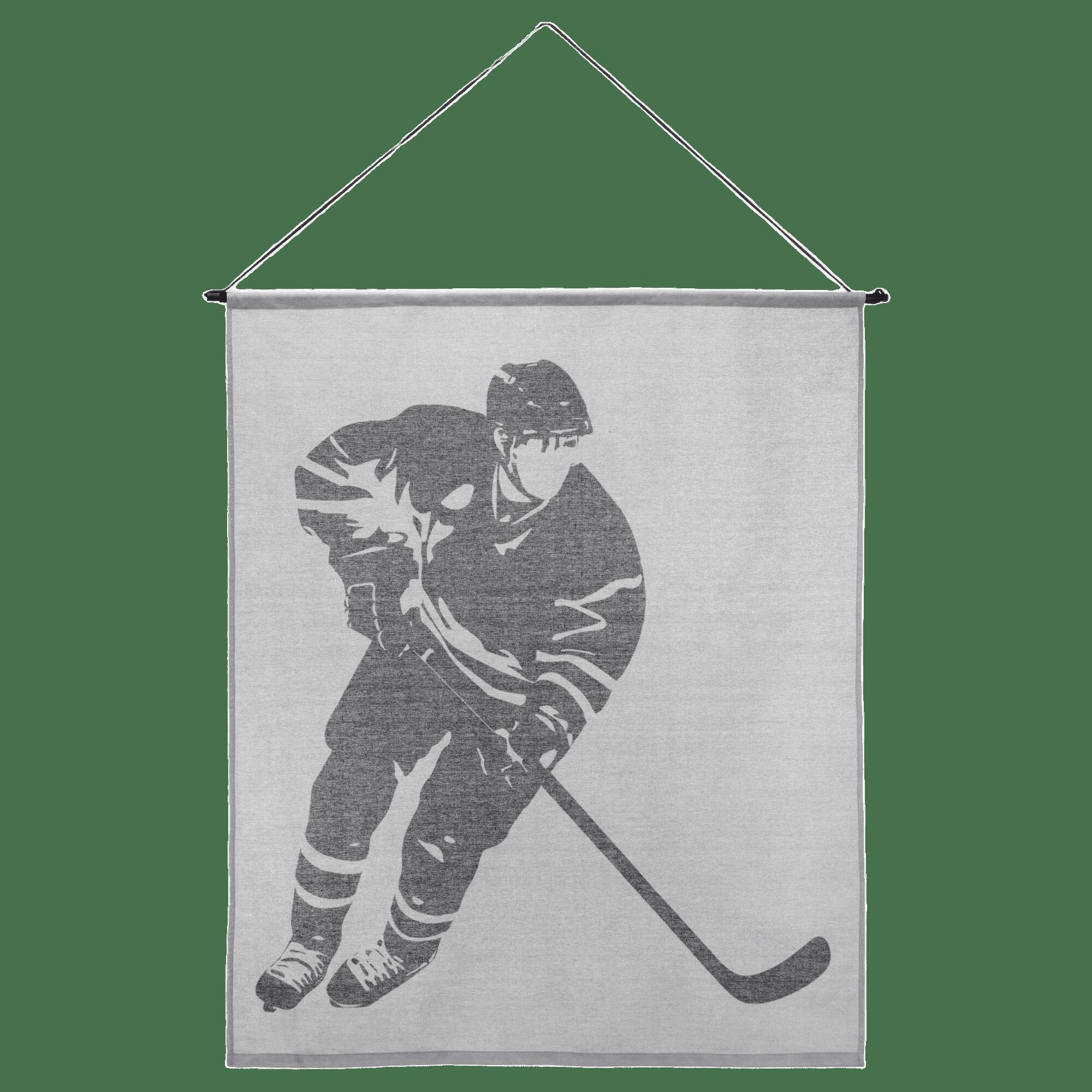 Toile murale hockey