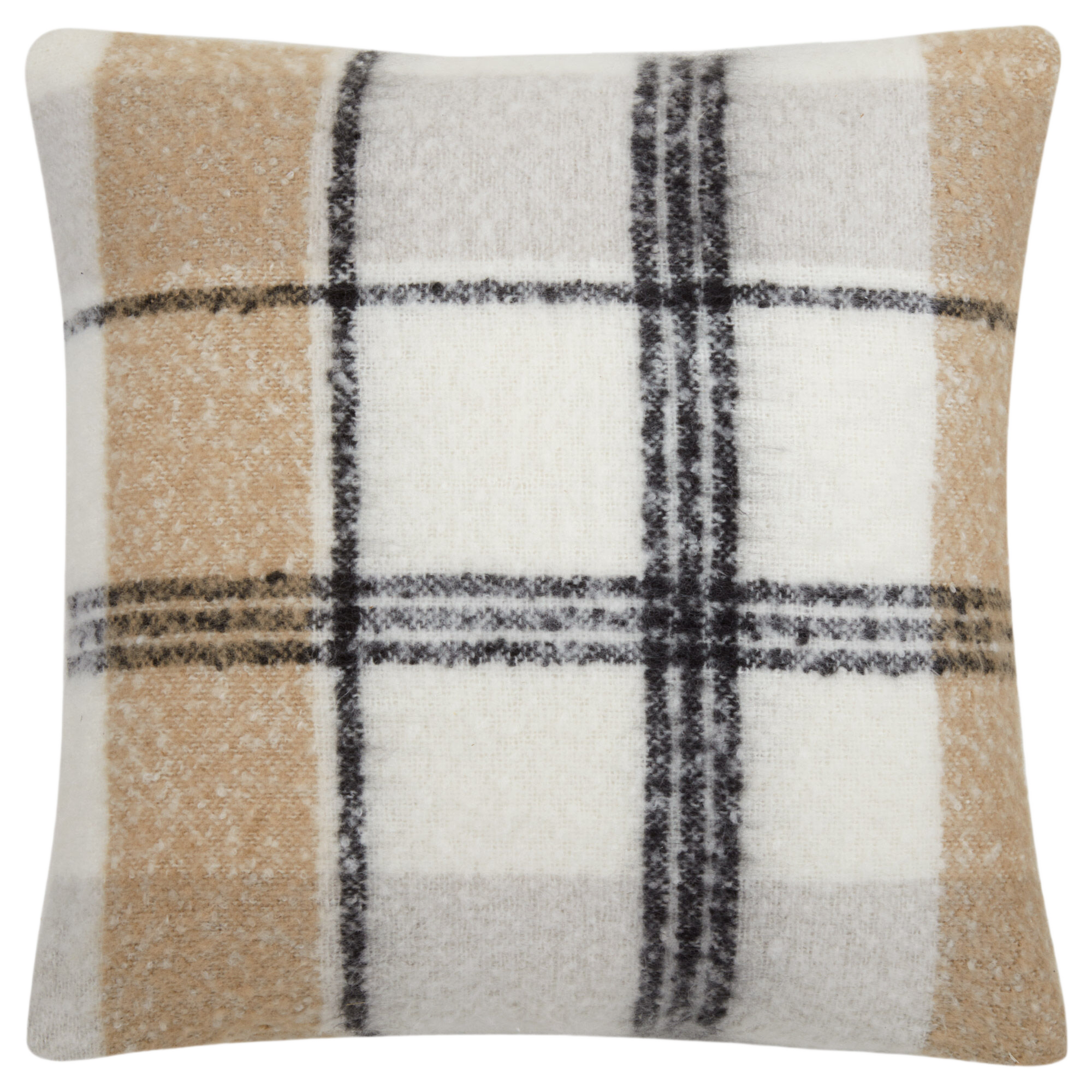 "Stewart Natural Plaid Decorative Pillow 20"" x 20"""