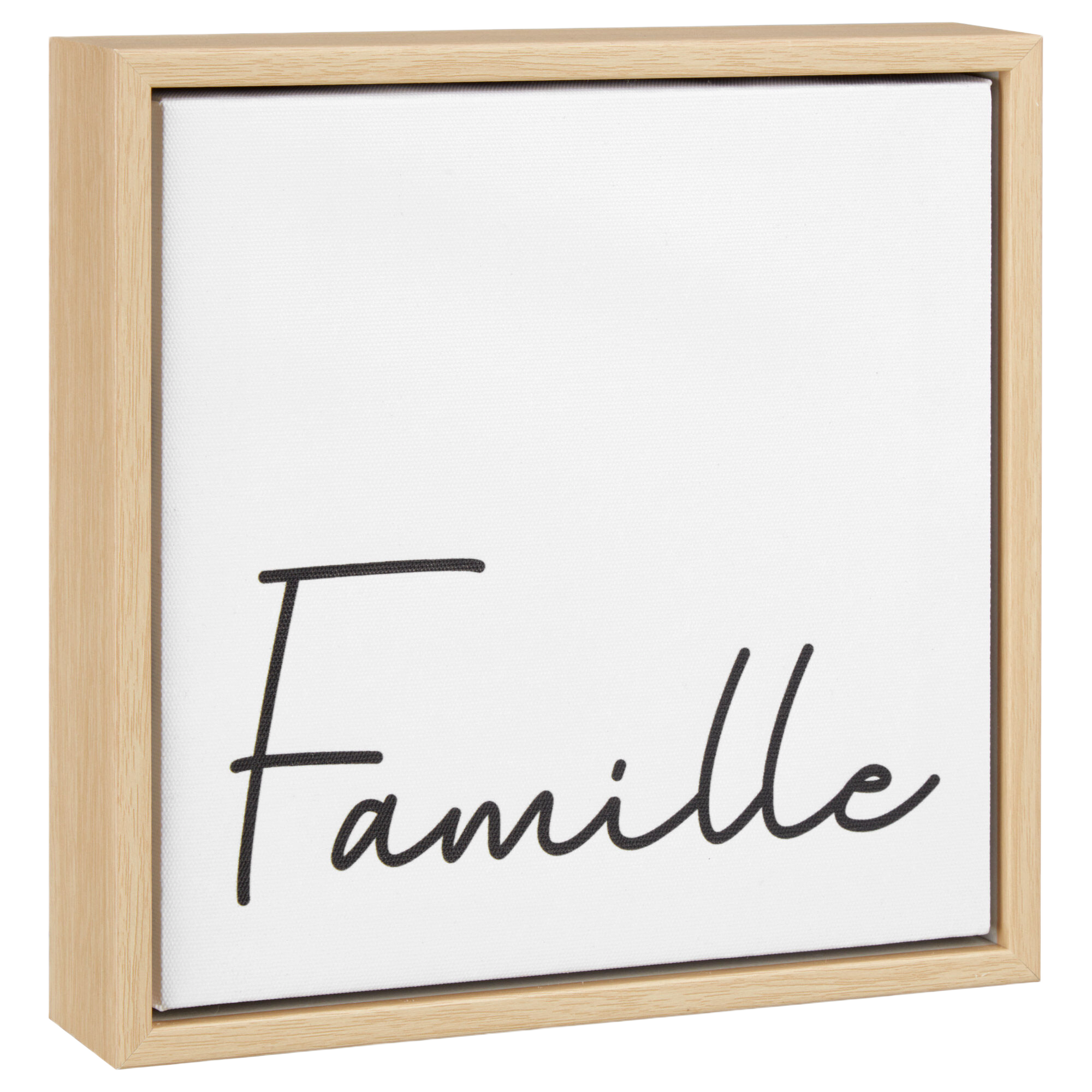 Famille Typography Framed Canvas