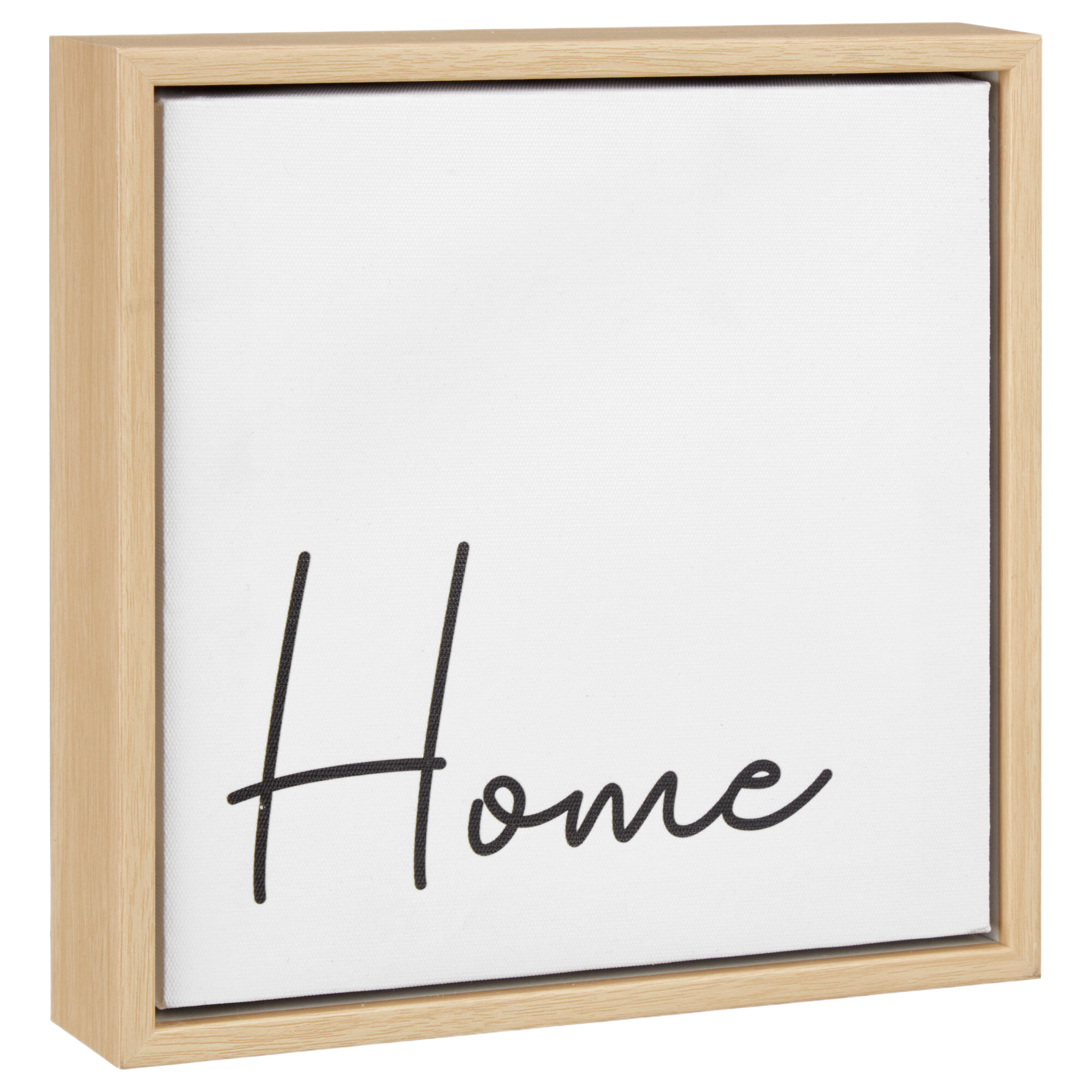 Home Typography Framed Canvas
